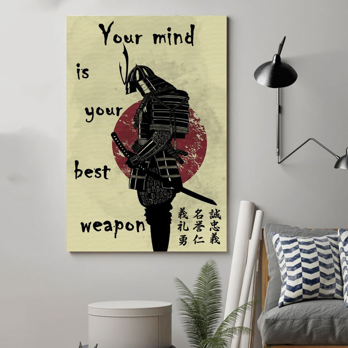 samurai Canvas and Poster ��� your mind is your best weapon wall decor visual art - GIFTCUSTOM