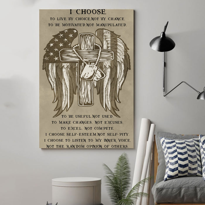 soldier Canvas and Poster ��� i choose wall decor visual art - GIFTCUSTOM