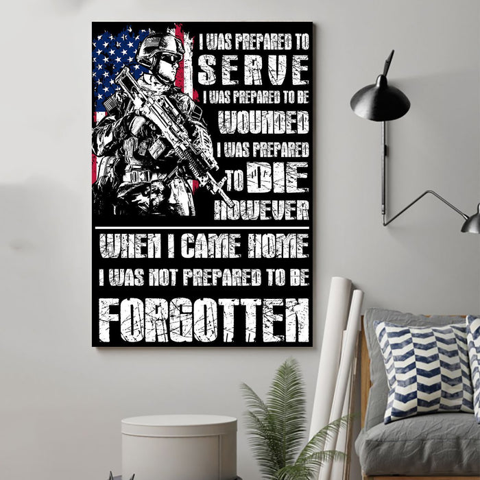 soldier Canvas and Poster ��� I was prepared wall decor visual art - GIFTCUSTOM