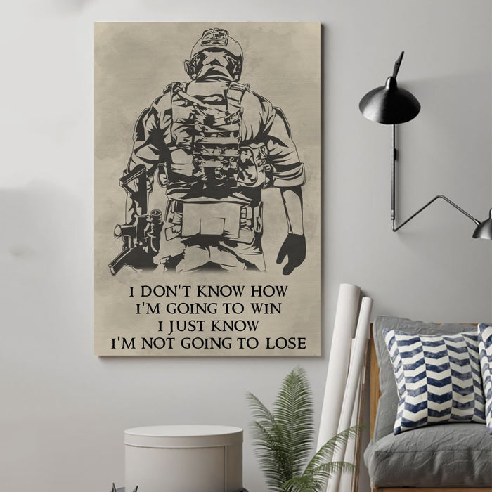 soldier Canvas and Poster ��� im going to win wall decor visual art - GIFTCUSTOM