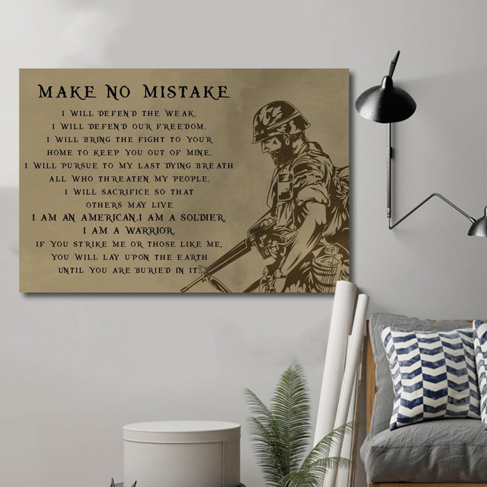 soldier Canvas and Poster ��� make no mistake wall decor visual art - GIFTCUSTOM