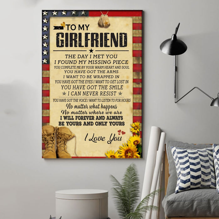 Soldier Canvas and Poster ��� to girlfriend ��� the day wall decor visual art - GIFTCUSTOM