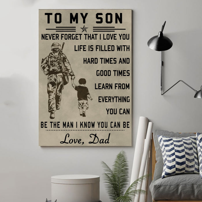 soldier Canvas and Poster ��� to my son wall decor visual art - GIFTCUSTOM