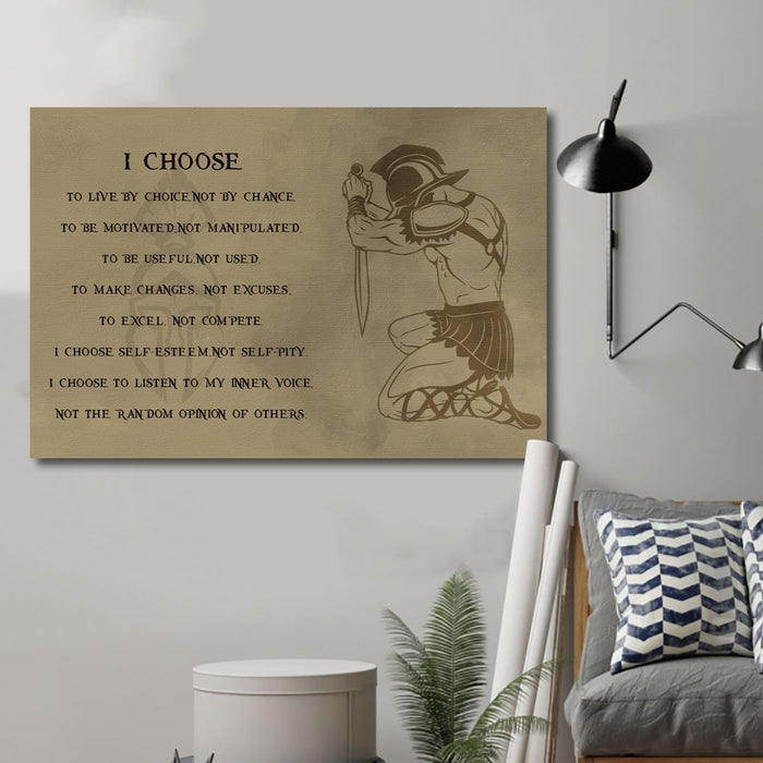 spartan Canvas and Poster ��� i choose wall decor visual art - GIFTCUSTOM