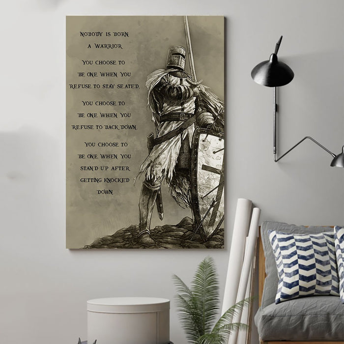 spartan Canvas and Poster ��� nobody is born a warrior wall decor visual art - GIFTCUSTOM