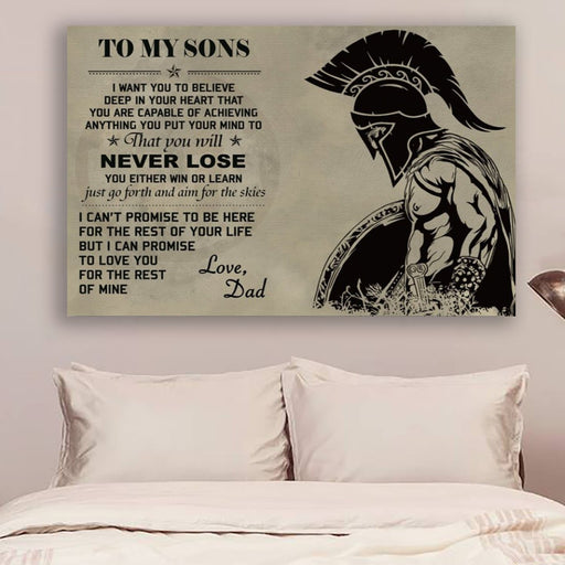 spartan Canvas and Poster ��� to my sons wall decor visual art - GIFTCUSTOM