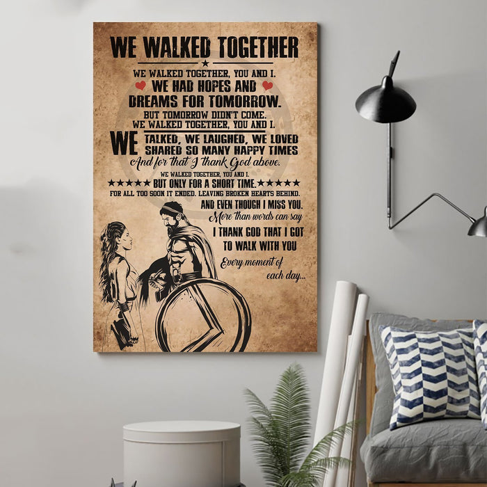 Spartan Canvas and Poster ��� We walked together wall decor visual art - GIFTCUSTOM