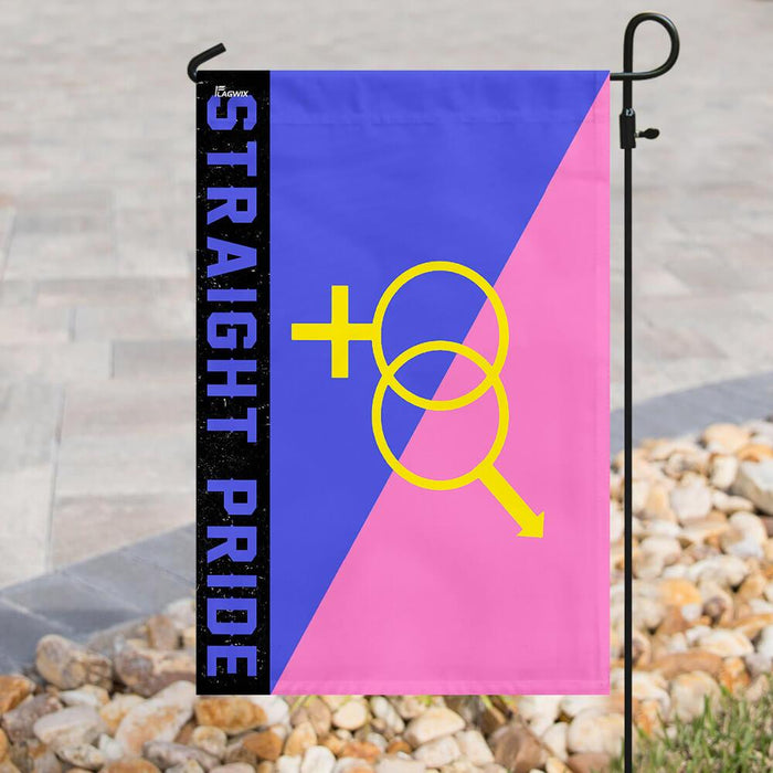Straight Pride Flag | Garden Flag | Double Sided House Flag - GIFTCUSTOM
