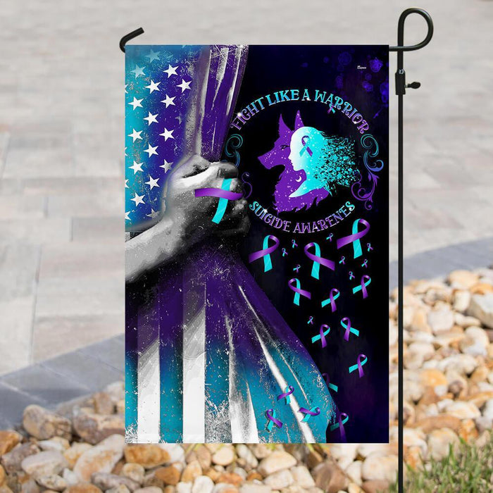 Suicide Prevention Awareness Warrior Flag | Garden Flag | Double Sided House Flag - GIFTCUSTOM