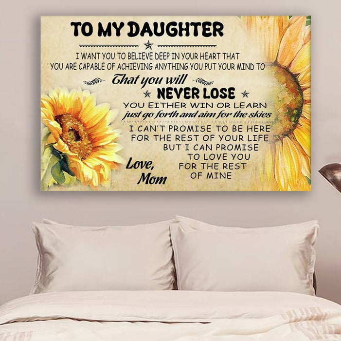 Sunflower Canvas and Poster ��� Mom Daughter never lose wall decor visual art - GIFTCUSTOM