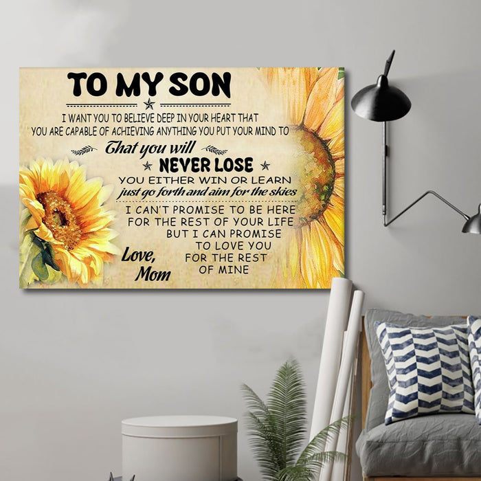 Sunflower Canvas and Poster ��� Mom Son never lose wall decor visual art - GIFTCUSTOM