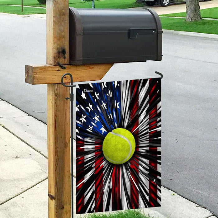 Tennis American Flag | Garden Flag | Double Sided House Flag - GIFTCUSTOM
