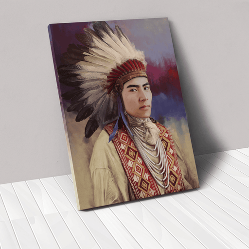 The Chief | Person Portrait Photo Upload Gift Custom Canvas, Poster | Personalized Gift - GIFTCUSTOM