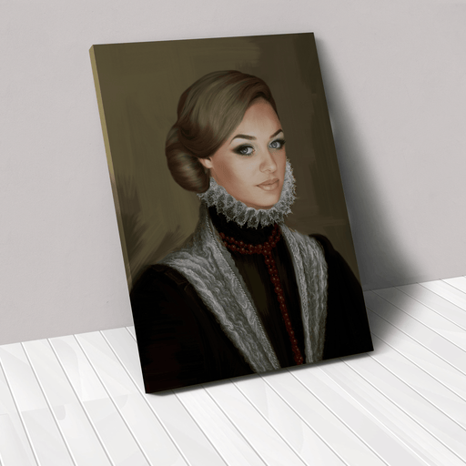The Countess | Person Portrait Photo Upload Gift Custom Canvas, Poster | Personalized Gift - GIFTCUSTOM
