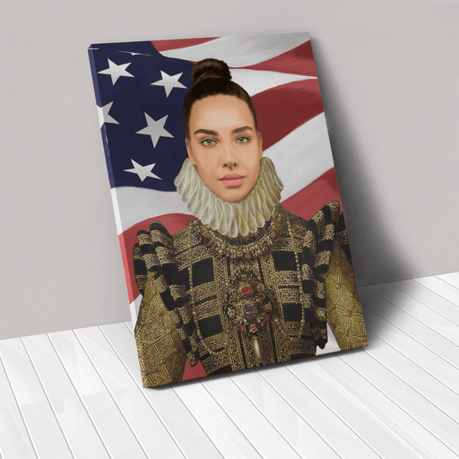 The Dame USA Edition | Person Portrait Photo Upload Gift Custom Canvas, Poster | Personalized Gift - GIFTCUSTOM