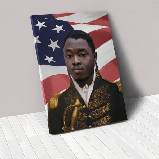 The General USA Edition | Person Portrait Photo Upload Gift Custom Canvas, Poster | Personalized Gift - GIFTCUSTOM