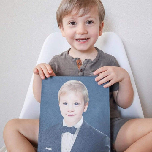 The Gentleman | Person Portrait Photo Upload Gift Custom Canvas, Poster | Personalized Gift - GIFTCUSTOM