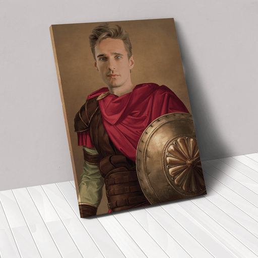 The Gladiator | Person Portrait Photo Upload Gift Custom Canvas, Poster | Personalized Gift - GIFTCUSTOM