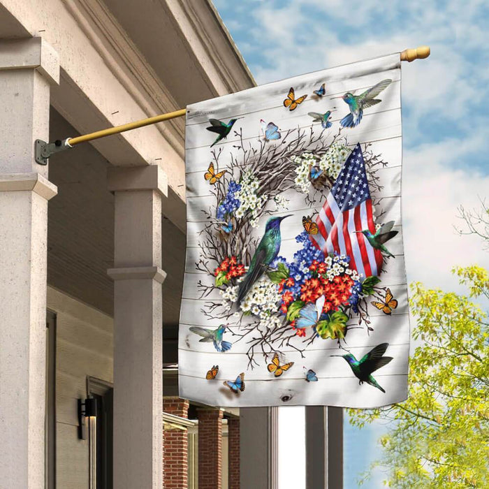 The Hummingbird, Gods Tiny Miracle Flag - GIFTCUSTOM