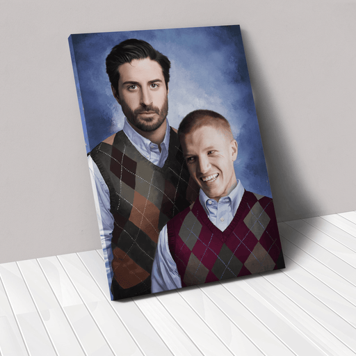 The Step Brothers | Person Portrait Photo Upload Gift Custom Canvas, Poster | Personalized Gift - GIFTCUSTOM