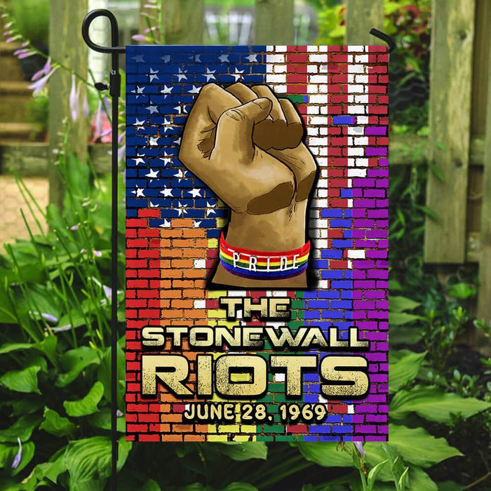 The Stonewall Riots LGBT Flag | Garden Flag | Double Sided House Flag - GIFTCUSTOM