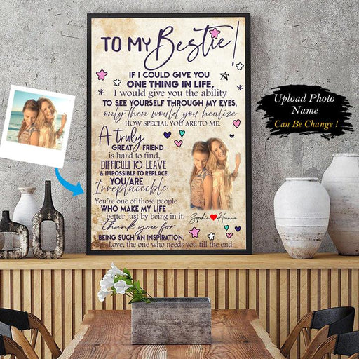 To My Bestie Photo Upload Personalized Canvas And Poster AP - GIFTCUSTOM