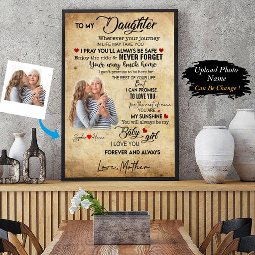 To My Daughter Personalized Photo Upload Canvas And Poster AP - GIFTCUSTOM