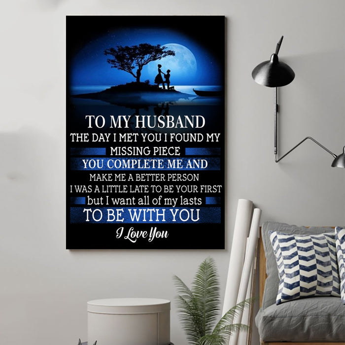 ��� to my husband Canvas and Poster ��� the day I met you vs2 wall decor visual art - GIFTCUSTOM
