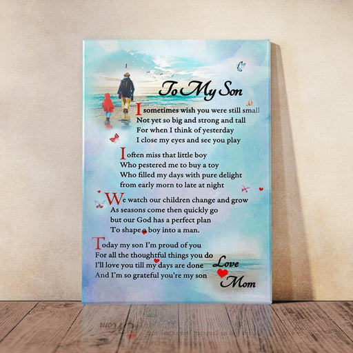 To My Son, Love Mom Canvas And Poster Wall Art | Wall Decor - GIFTCUSTOM