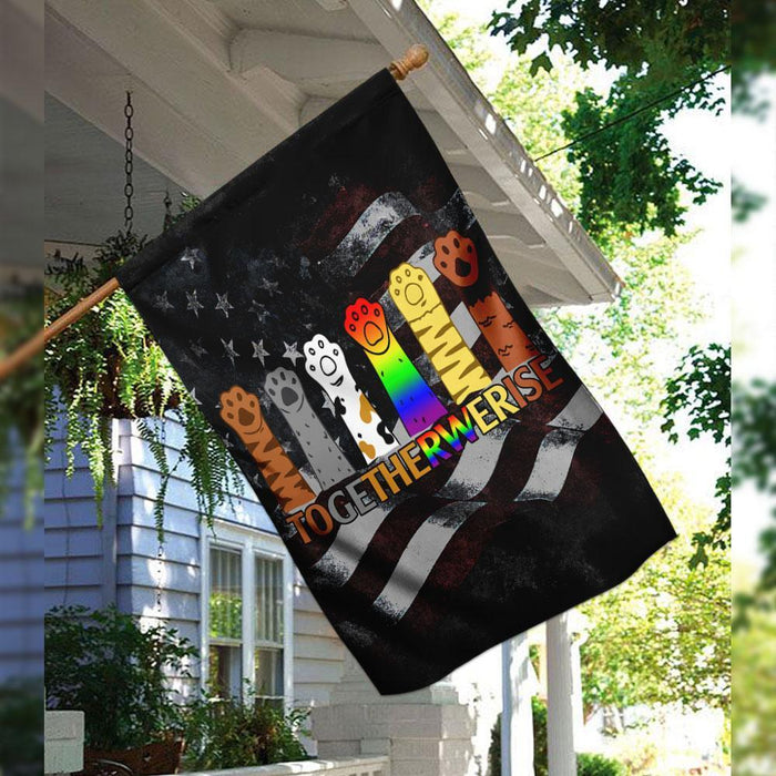 Together We Rise Flag | Garden Flag | Double Sided House Flag - GIFTCUSTOM