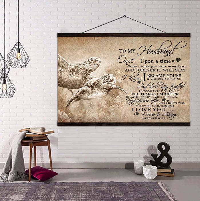 Turtle Hanging Canvas To Wife I wish I could turn back the clock wall decor visual art - GIFTCUSTOM