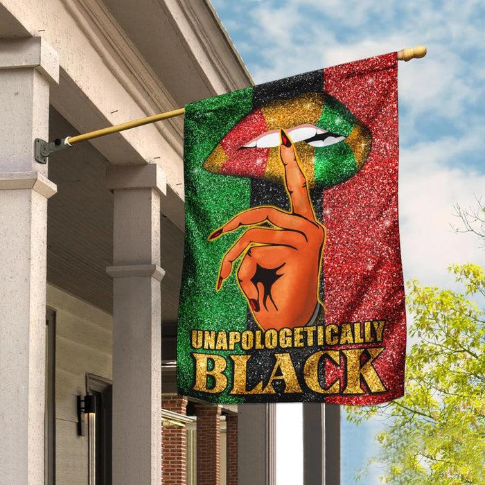 Unapologetically Black Flag | Garden Flag | Double Sided House Flag - GIFTCUSTOM