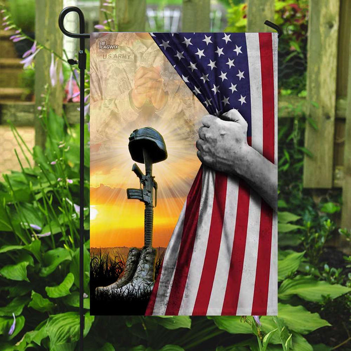 United States Army Fallen Soldiers Memorial Flag | Garden Flag | Double Sided House Flag - GIFTCUSTOM
