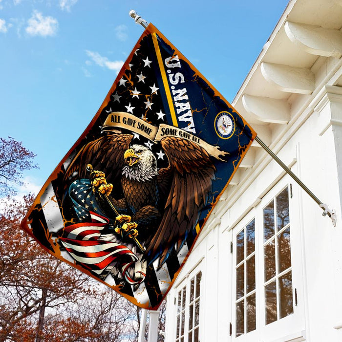 U.S. Navy All Gave Some Some Gave All Flag | Garden Flag | Double Sided House Flag - GIFTCUSTOM