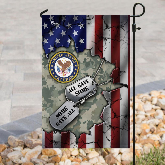U.S. Veteran All Gave Some Some Gave All American Flag | Garden Flag | Double Sided House Flag - GIFTCUSTOM