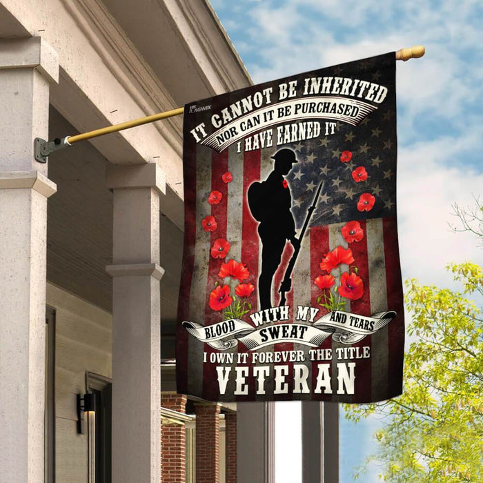 Veteran Remembrance Day Poppy American US Flag | Garden Flag | Double Sided House Flag - GIFTCUSTOM