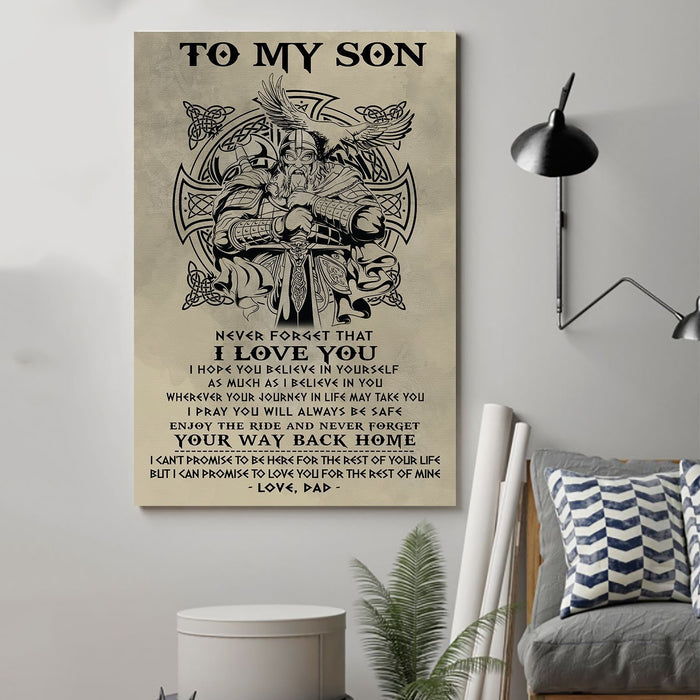 Viking Canvas and Poster ��� Dad to Son ��� Your way back home wall decor visual art - GIFTCUSTOM