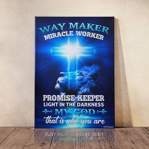 Way Maker Miracle Worker Jesus Christ Canvas And Poster Wall Art | Wall Decor - GIFTCUSTOM
