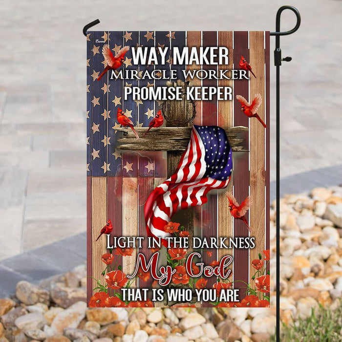 Way Maker, Miracle Worker,Promise Keeper , Light in the Darkness My God Flag that is who you are - GIFTCUSTOM
