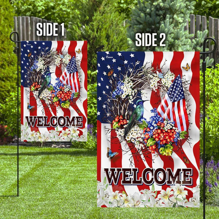 Welcome American Flag - GIFTCUSTOM