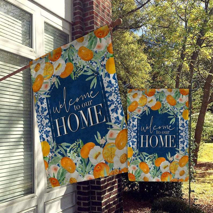 Welcome To Our Home, Garden House Flag ‰ÛÒ Monogram Flag ‰ÛÒ Farmhouse Garden Farmhouse Flag- All Over Printed - GIFTCUSTOM
