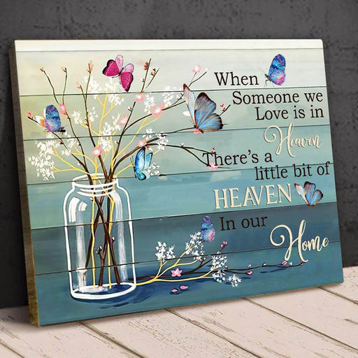 When someone we love is in heaven canvas Memorial gift - GIFTCUSTOM