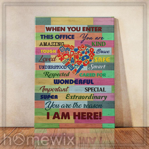 When You Enter This Office, Nurse Canvas And Poster Wall Art | Wall Decor - GIFTCUSTOM