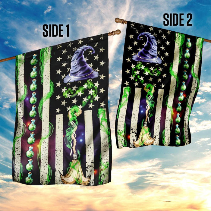 Witch Flag | Garden Flag | Double Sided House Flag - GIFTCUSTOM