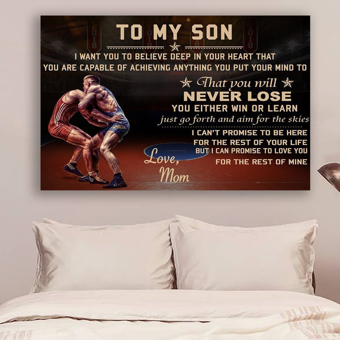 Wrestling Canvas and Poster ��� Mom to son ��� never lose vs3 wall decor visual art - GIFTCUSTOM