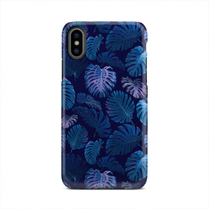 Neon Blue Tropical Fern Forest iPhone X