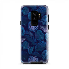 Load image into Gallery viewer, Neon Blue Tropical Fern Forest iPhone X