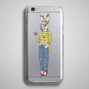 Squirrel Hipster iPhone 8 Plus Case Clear iPhone 7
