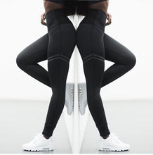 Load image into Gallery viewer, NORMOV Activewear High Waist Fitness Leggings Women Pants Fashion Patchwork Workout Legging Stretch Slim Sportswear Jeggings