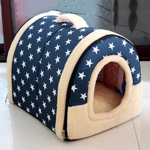 Multifuctional Dog House Nest with Mat Foldable Pet Dog Bed Cat Bed House for Small Medium Dogs Travel Pet Bed Bag Sofa Supplies